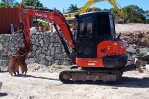 landscaping sunshine coast - rock walls earthmovers excavation equipment qld