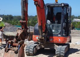 excavation contractors sunshine coast - tipper positrack excavator hire - earthmoving companies queensland